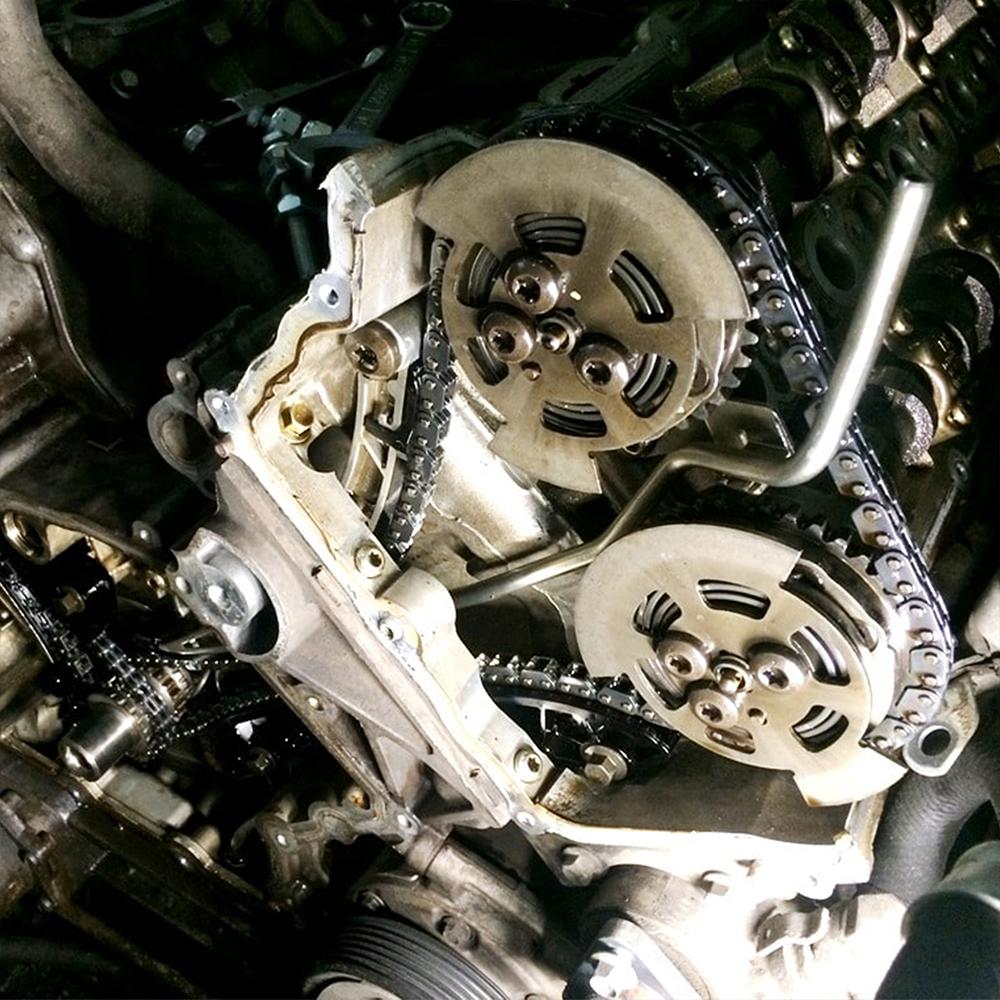 Замена цепей грм Land Rover