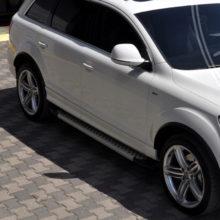 Пороги на внедорожнике Range Rover